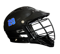 Lacrosse Helmet Number Stickers