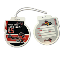 Lacrosse Bag Tag Stickers