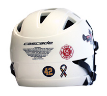 Lacrosse Helmet Memorial Stickers